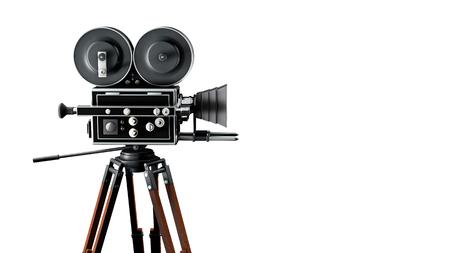 Jahrgang Filmkamera rechten Seite Standard-Bild - 50646618
