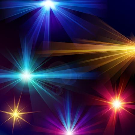 effets lumiere: Ensemble de 6 effets de lumi�re vecteur