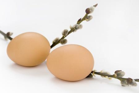 Jaja wielkanocne z gałązek