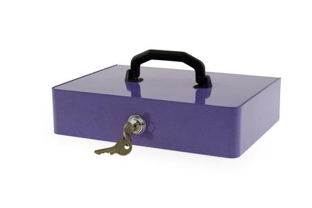 Safe locked up, white background Zdjęcie Seryjne - 9396742