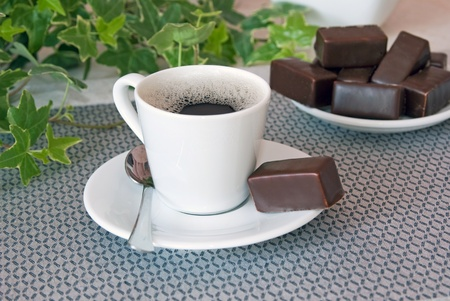 Coffee with chocolate
