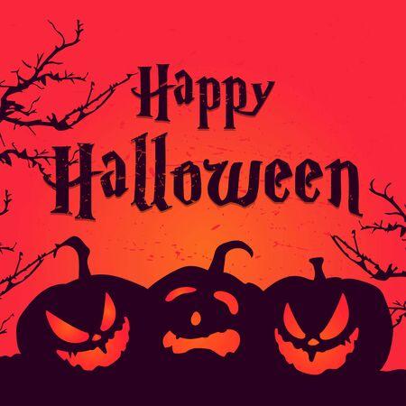 funy pumpkin halloween face character