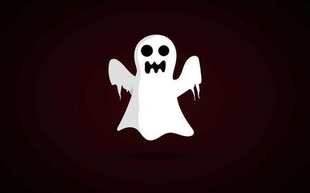 halloween ghost vector image, cartoon ghost vector image Illusztráció