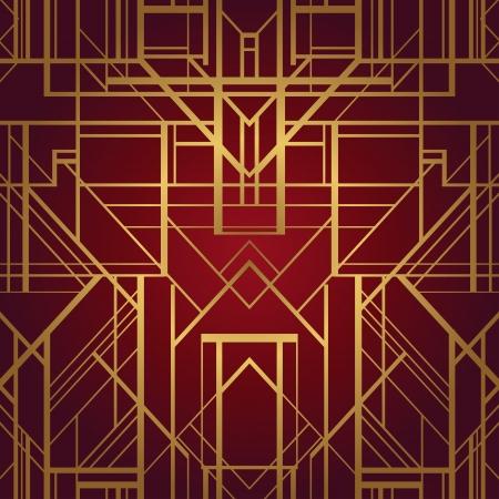 Art deco style vector geometric pattern
