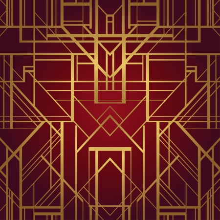 Art deco style vector geometric pattern