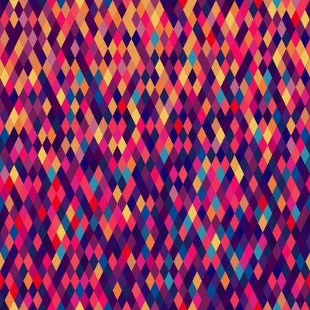 Colorful diamond tiles seamless vector pattern