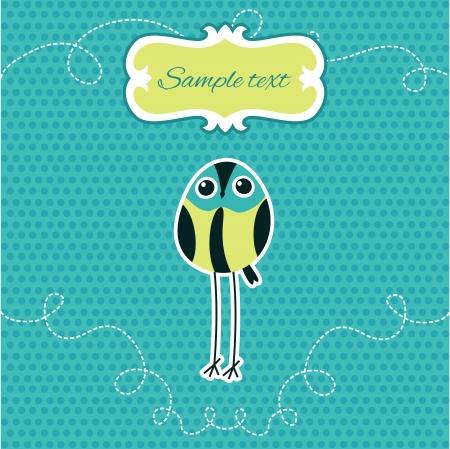 little bird: Ilustraci�n vectorial Cute little bird.