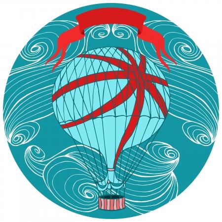 aerostat: Aerostat vector illustration.