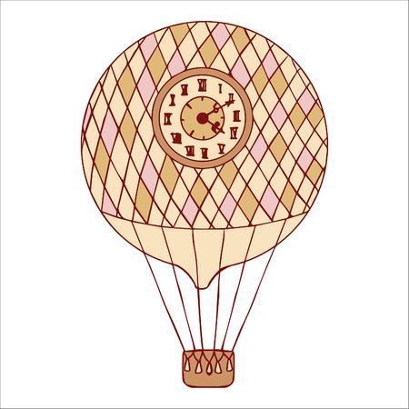 aerostat: Aerostat isolated vector illustration.