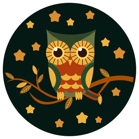 owl vector: Cute owl vector illustration.