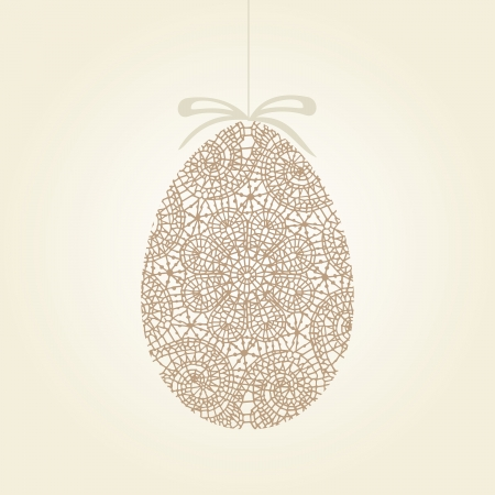 Easter greeting card with egg. Vector