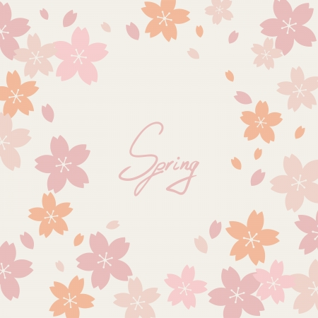 Sakura vector greeting card. Vector