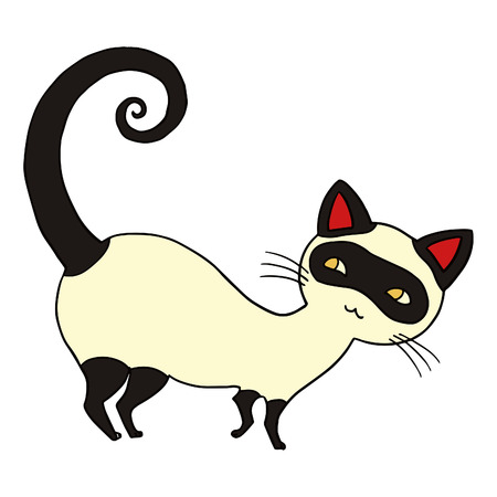 Cat isolated vector illustration. Vector