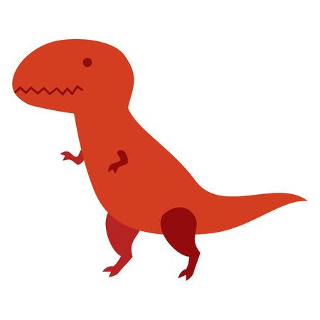 dinosaurio caricatura: Aislado dinosaurio de la historieta del vector del carácter.