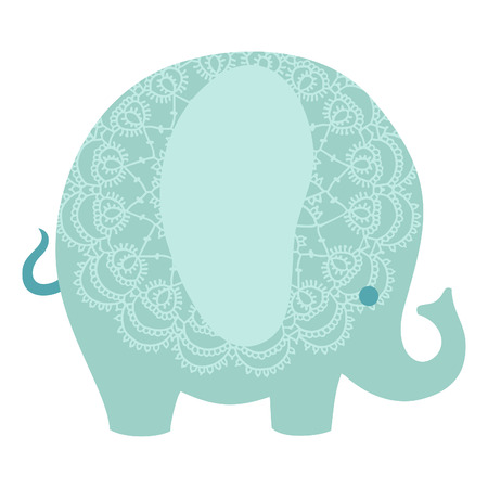 Cute colorful elephants isolated vector illustration. Vector