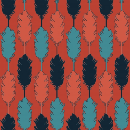 feather vector: Feather vector seamless pattern.