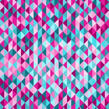 Colorful triangle tiles seamless vector pattern.