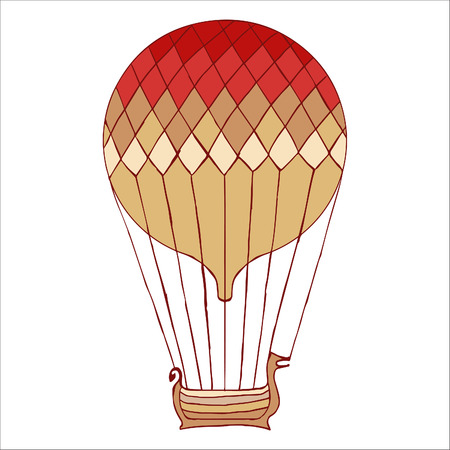 aerostat: Aerostat isolated vector illustration.
