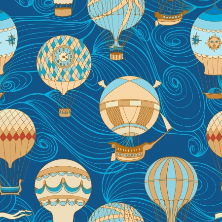 Aerostats vector seamless pattern Vector
