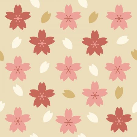 Sakura vector seamless pattern. Stock Illustratie