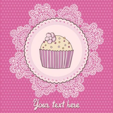 Cupcake vector illustration. Vector