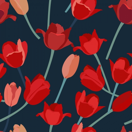 tulipe rouge: Tulipe rouge seamless.