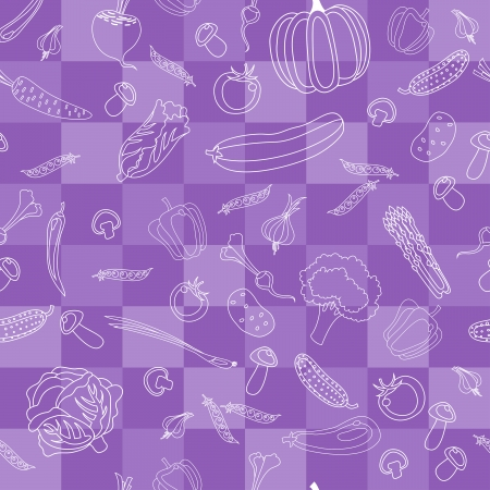 Vegetables vector seamless pattern. Vector