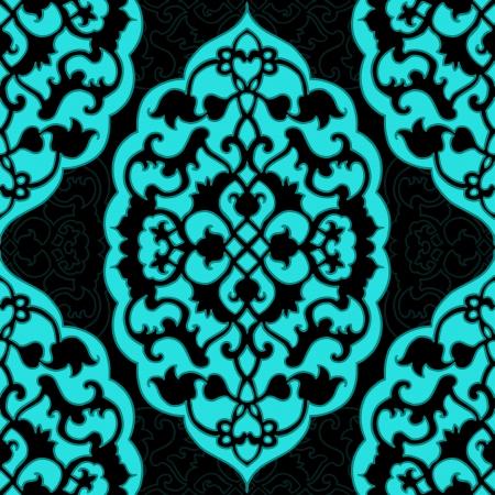 mideast: Mid-east carpet style vector seamless pattern.