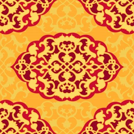 mideast: Mid-east carpet style seamless pattern.