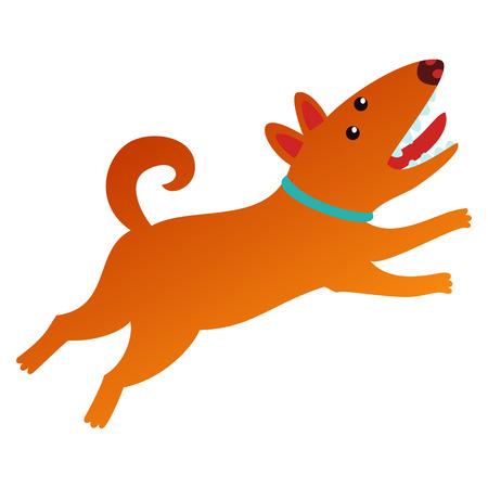 Cute dog isolated illustration. Stock Illustratie