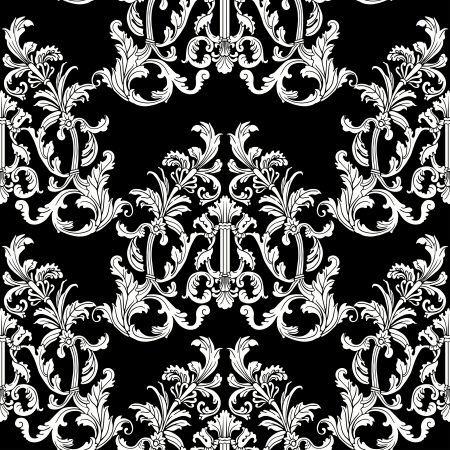 Baroque style floral seamless pattern.