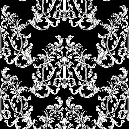 Estilo barroco patrón floral sin fisuras. Foto de archivo - 24594910