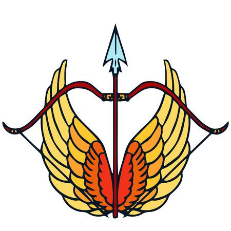 Sagittarius Zodiac sign cartoon isolated illustration Vector