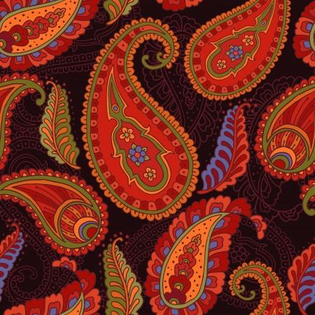 Colorful paisley-style seamless pattern.