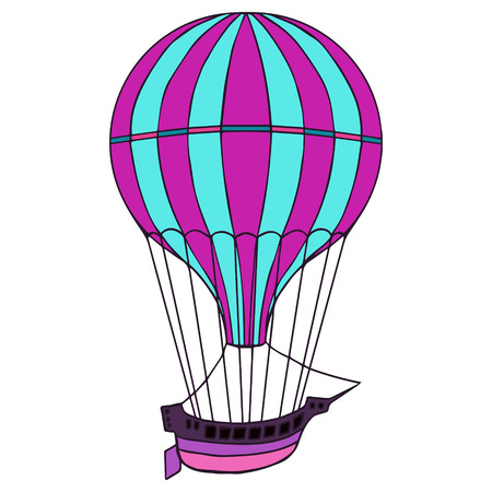 aerostat: Aerostat isolated illustration.