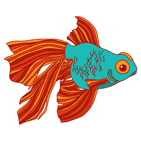character illustration: Goldfish isolated character illustration.