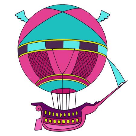aerostat: Aerostat isolated illustration  Illustration