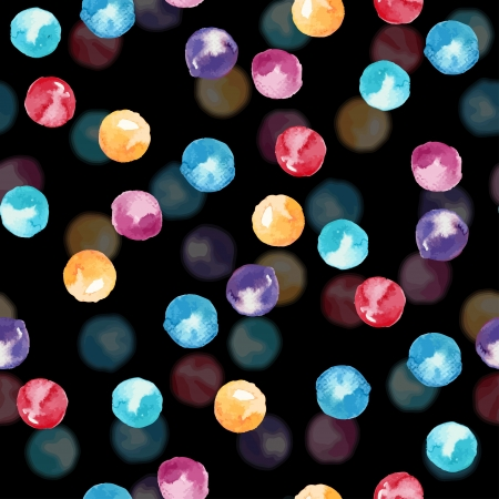 Watercolor-style spots abstract vector seamless background  Vector