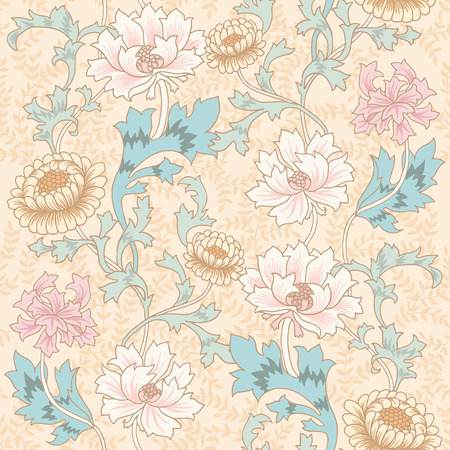 fable: Dark Enchanted Vintage Flowers and Birds seamless pattern vector. Magic forest background.