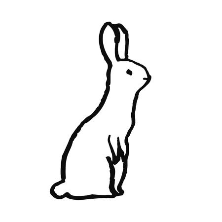 Cute hand drawn animal in scandinavian style. Simple line art. Vector illustration. Vektorové ilustrace