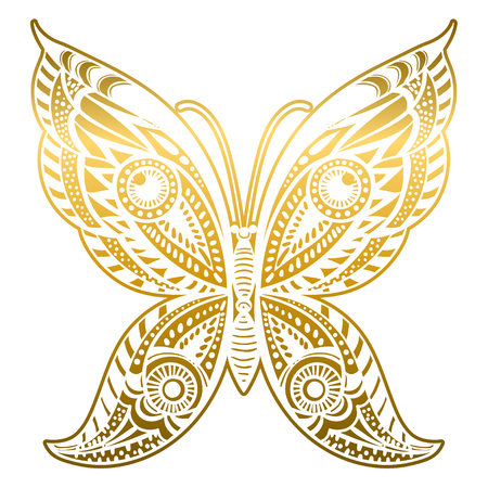 Beautiful abstract butterfly. Vector illustration. Illustration