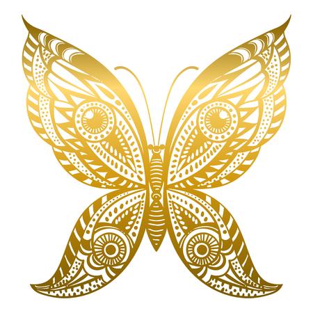Beautiful abstract butterfly. Vector illustration. Illustration