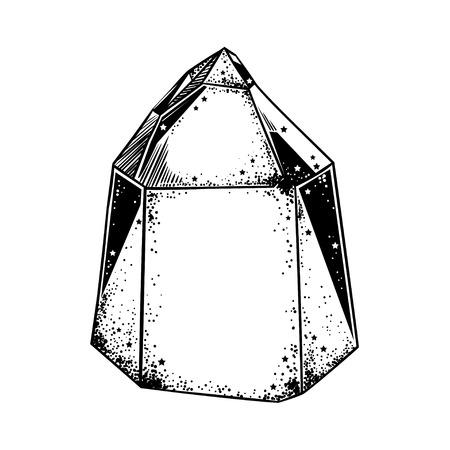 Magical crystal gem. Vector illustration. 矢量图片