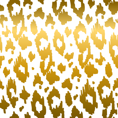 Animal seamless pattern colorful and monochrome black and white. Fashion and stylish background. Vector illustration with leopard texture