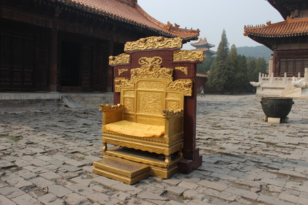 hebei province: Hebei province, zunhua, Kiyotaka tombs, ancient brick, long chairs, Editorial
