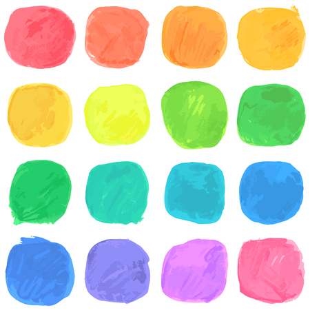 Vector Watercolor Blobs Pattern. Isolated on White.