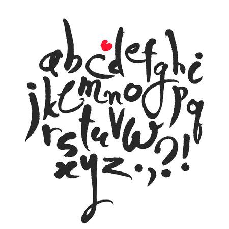 Calligraphical Latin Alphabet Illustration