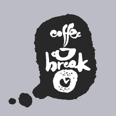 donut style: Coffee Break in a Speech Bubble