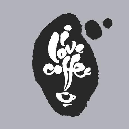 I Love Coffee in a Speech Bubble