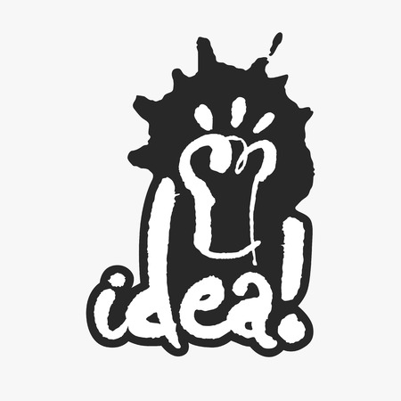 english letters: Idea in an Ink Blot Illustration